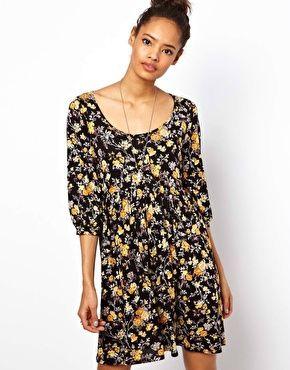 ASOS - Robe tunique et imprimé fleuri vintage