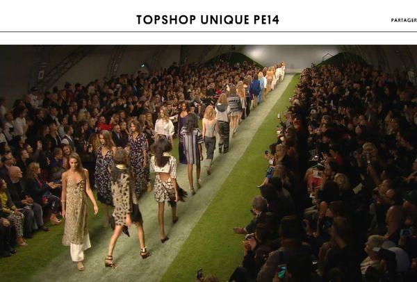 le défilé de mode topshop
