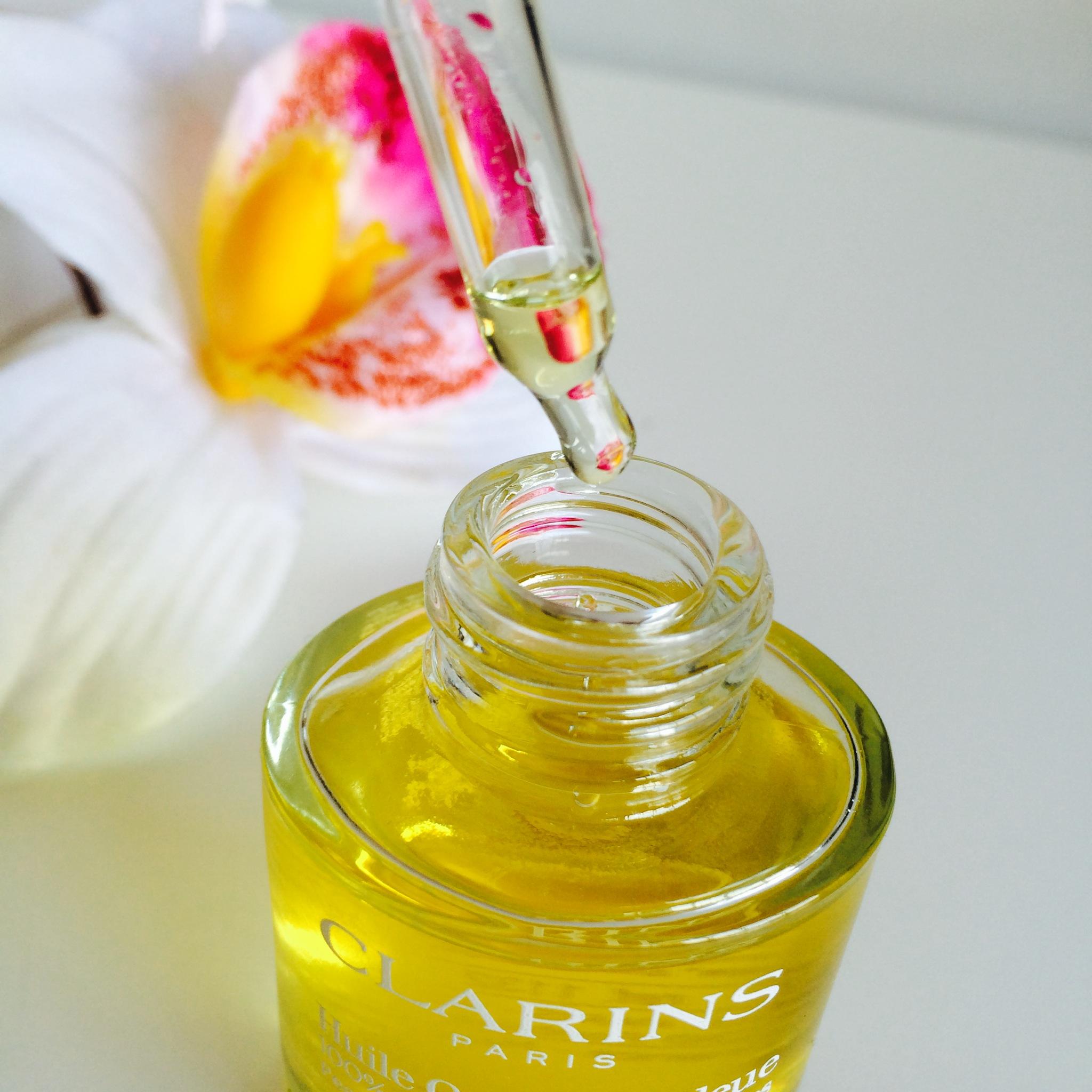 huile orchidée clarins -review