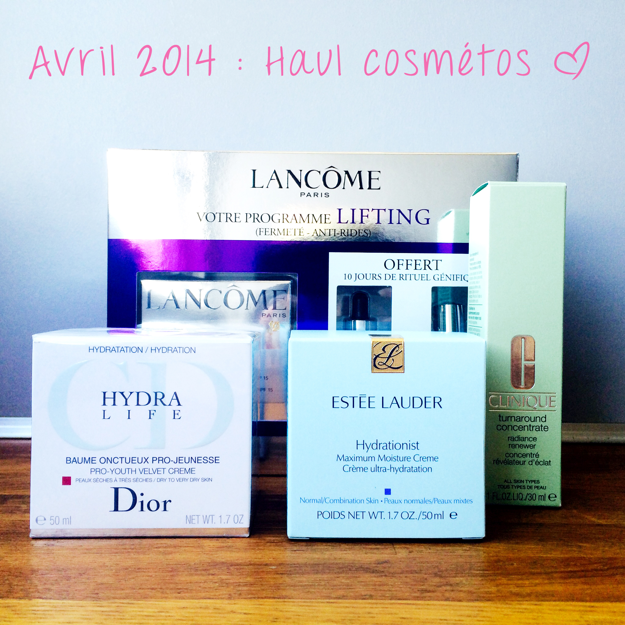 Haul cosmétiques - avril 2014 - needs and moods