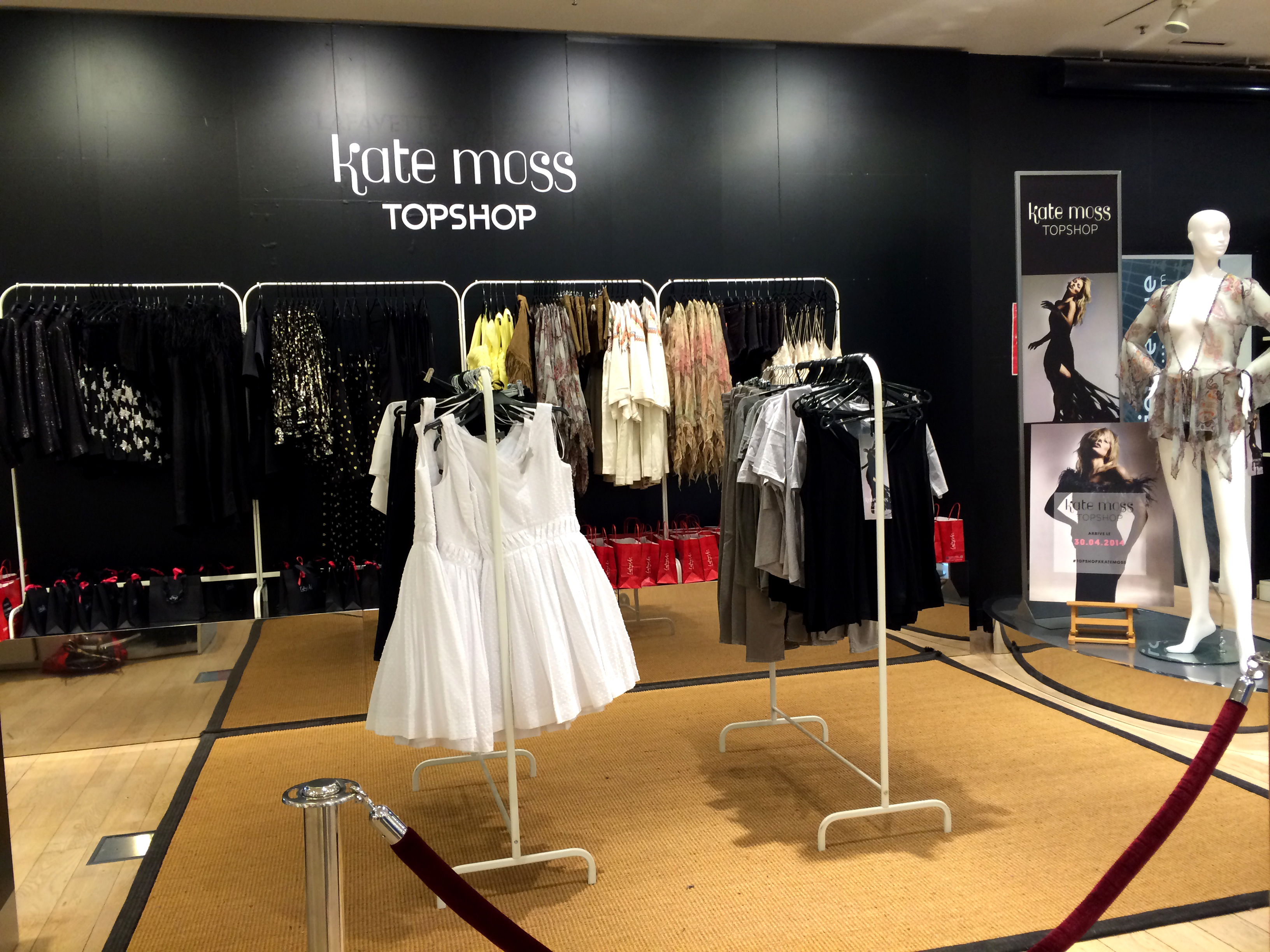 Collection capsule Kate Moss pour Topshop - Galeries Lafayette - Lille - France