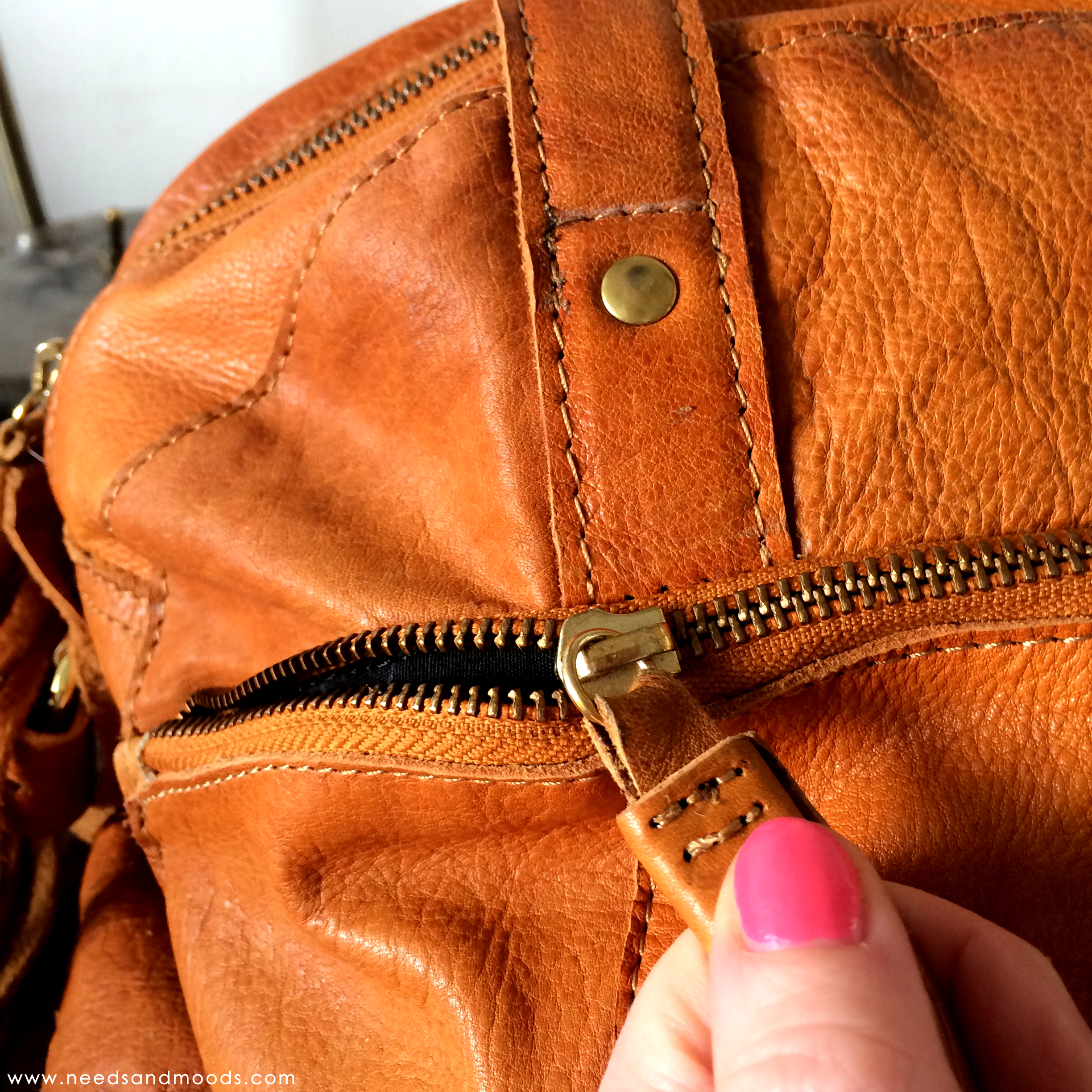 Leather Hand Bag Pieces - Vintage Style