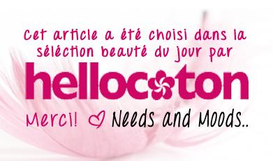Hellocoton - sélection une beaute du jour - Needs and Moods
