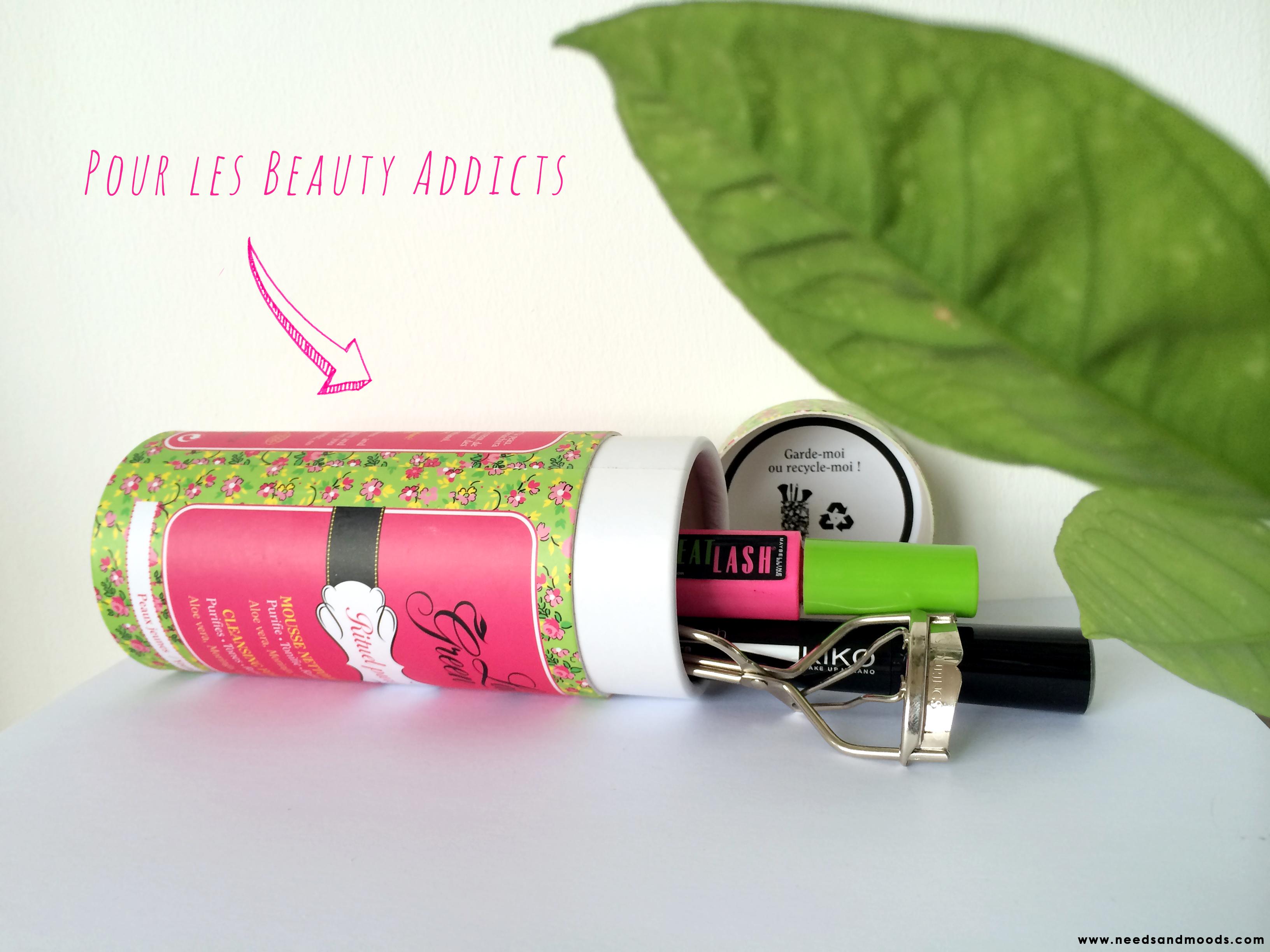 idée de recyclage boite lady green - trousse de maquillage