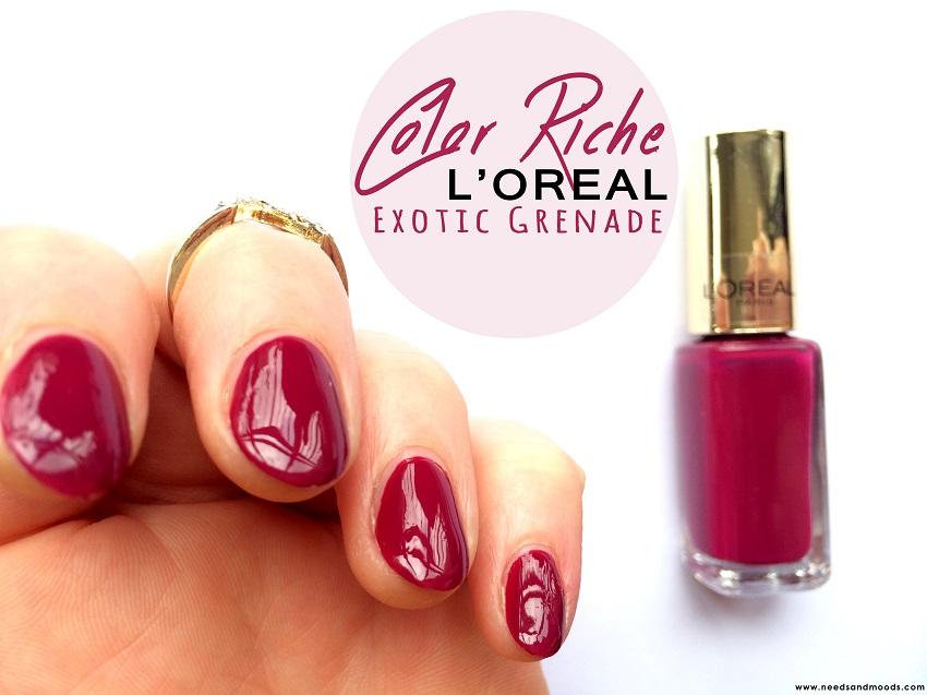 Vernis L'oréal Color Riche 506 exotic grenade