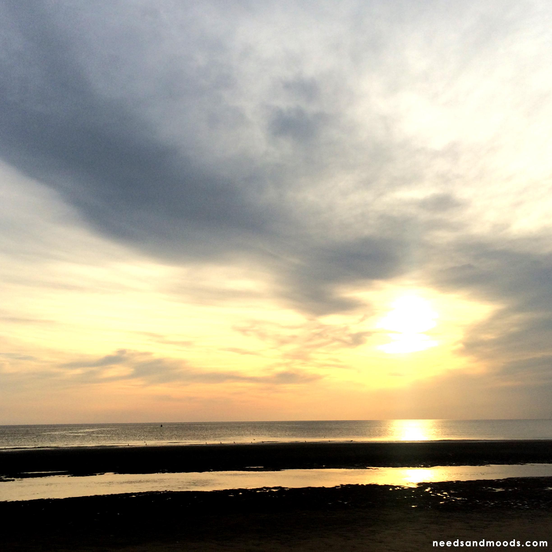 Coucher de soleil - Plage du Nord de la France