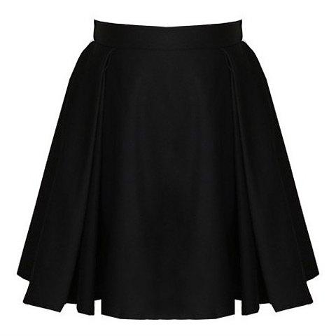 jupe noire évasée