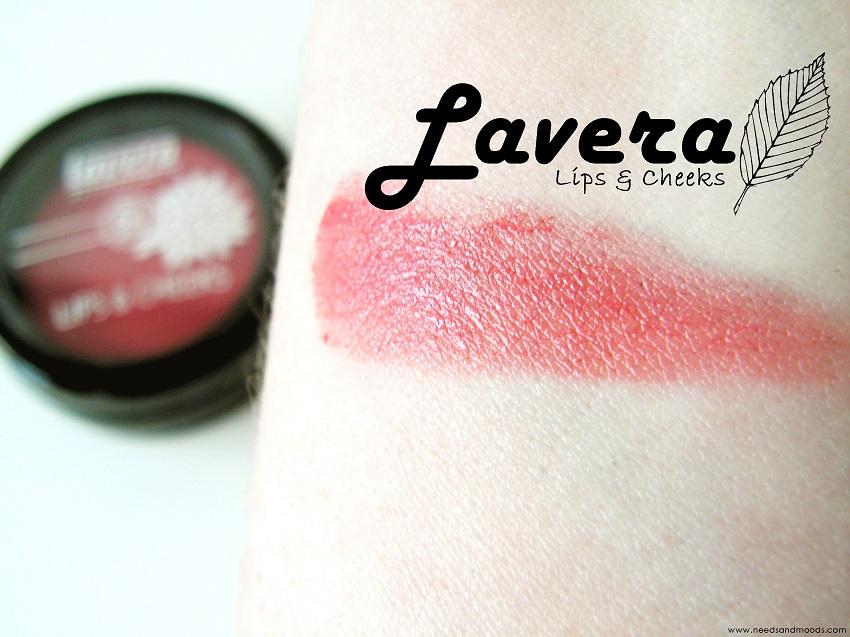 Lavera lips and cheeks swatch