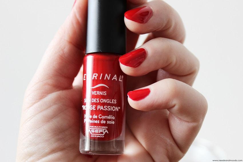 vernis à ongles rouge passion Ecrinal