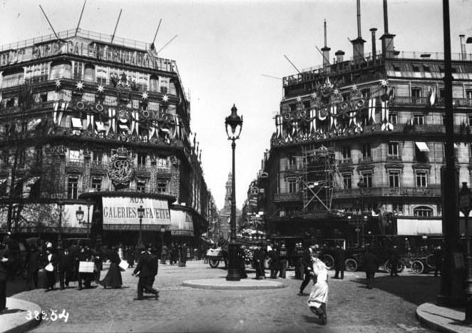 Galeries Lafayette Paris photo ancienne 1914
