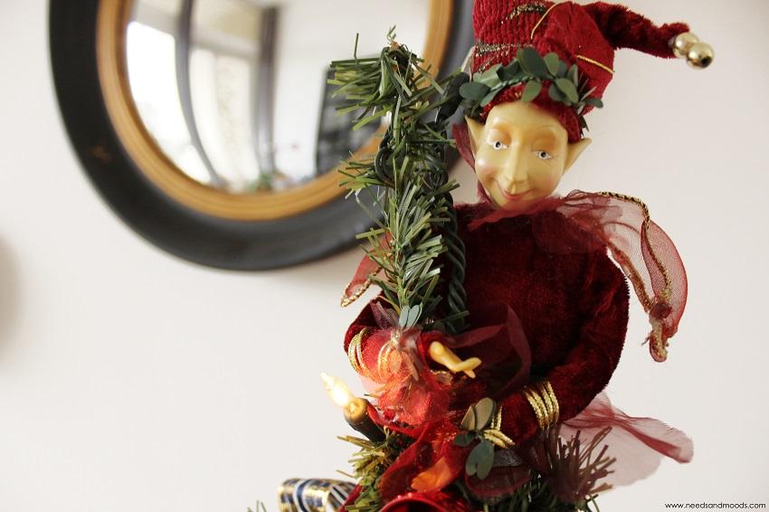 décoration de sapin de noël elfe