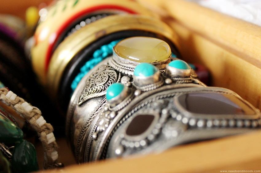 bracelet vintage pierre semi précieuse