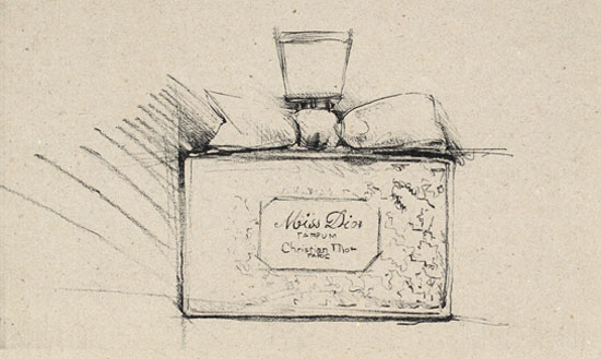 dessin flacon Miss Dior