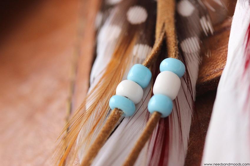 boucles d oreilles plumes indiennes