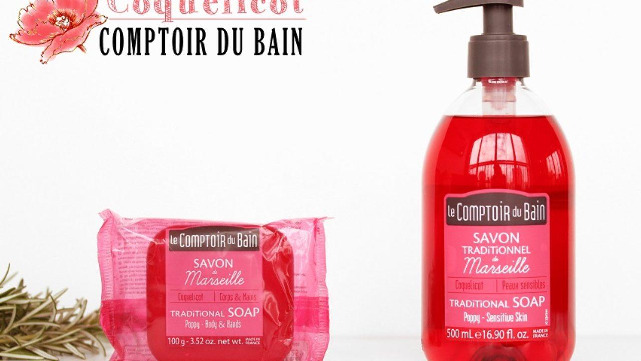 Drap De Bain Savon De Marseille comptoir du bain: la gamme au coquelicot (birchbox).