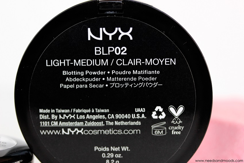 nyx blotting powder BLP02