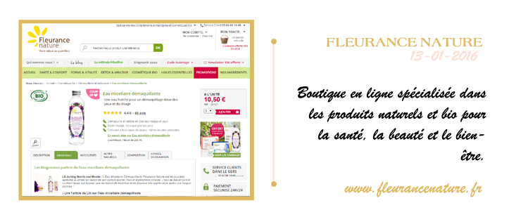 blog beaute fleurance nature demaquillant