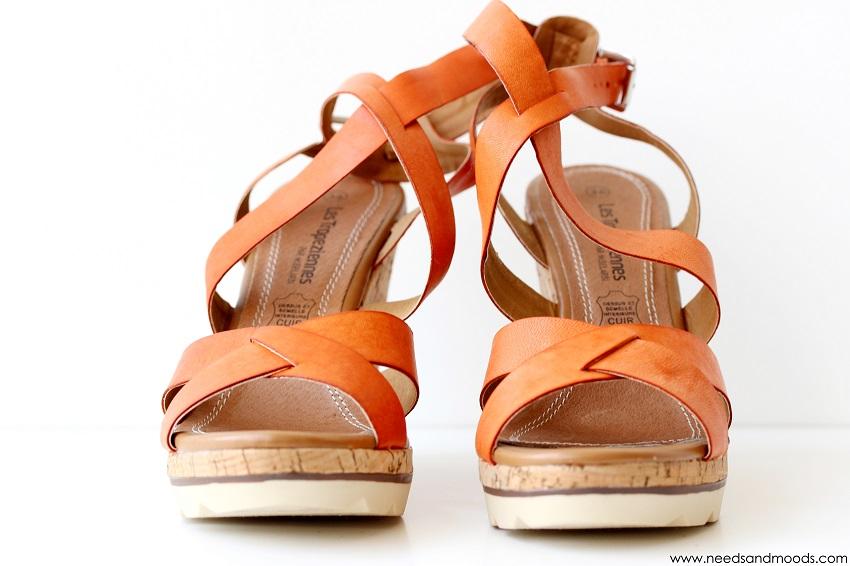 chaussure orange les tropeziennes