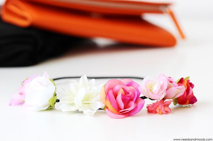 couronne de fleurs new look
