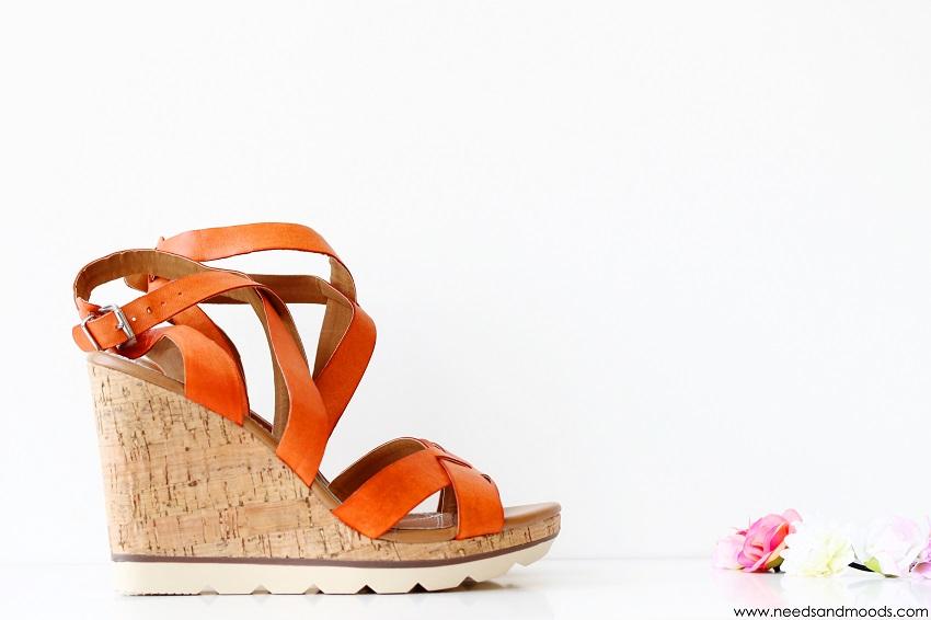 les tropeziennes sandales compensees en cuir orange Joeva
