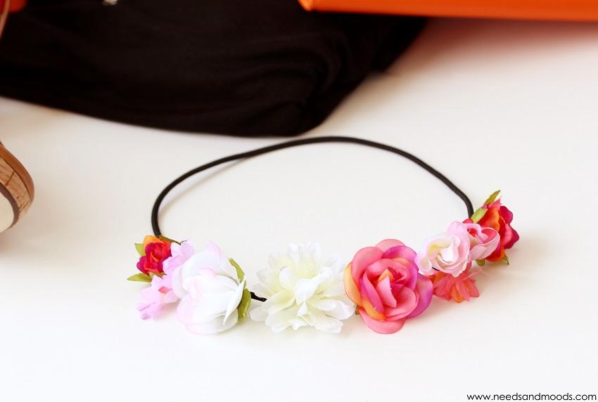 new look couronne de fleurs