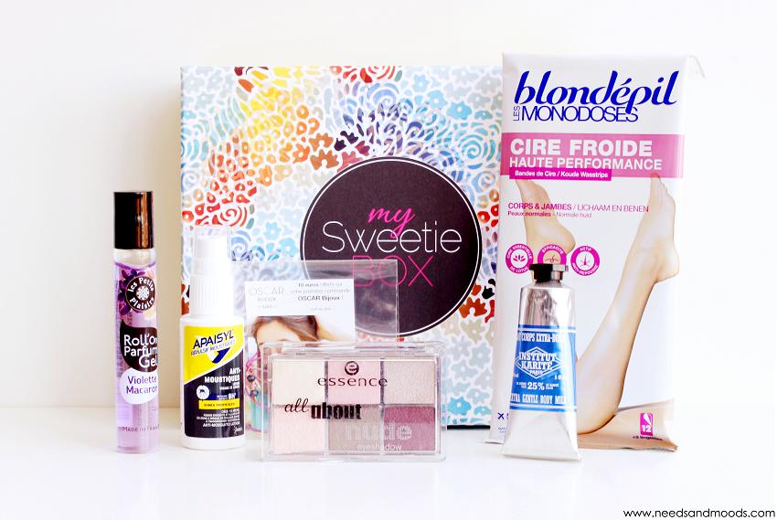 contenu my sweetie box juillet 2015
