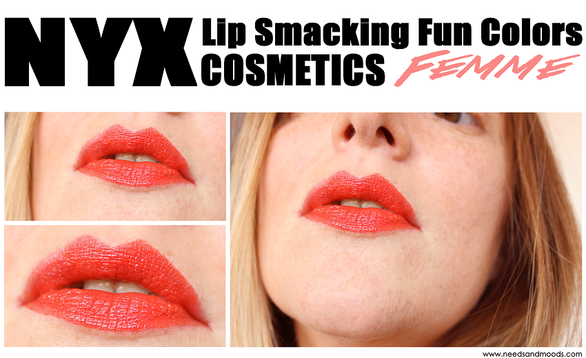 Round Lipstick nyx femme swatch
