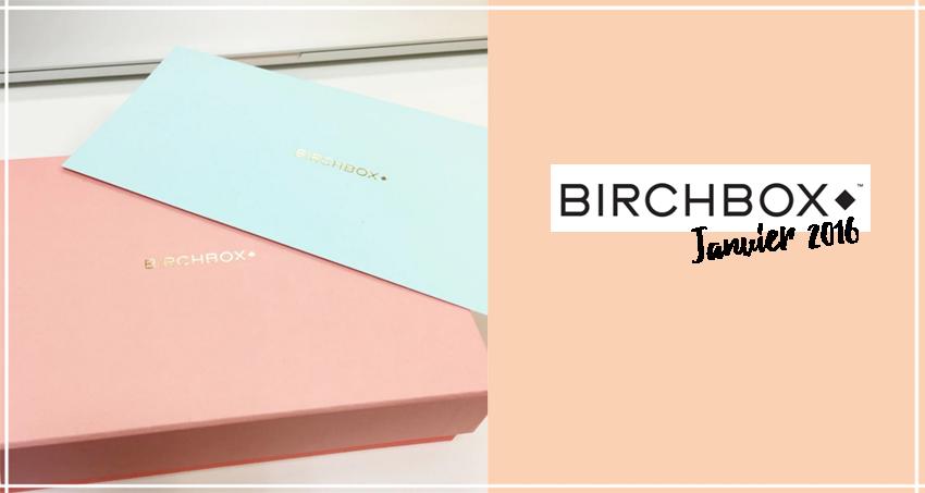 birchbox janvier 2016