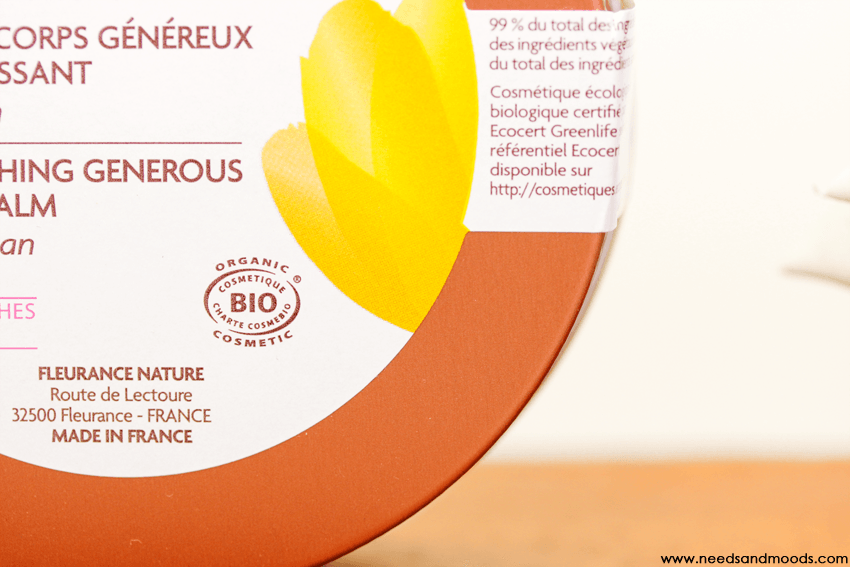 baume corps argan fleurance nature