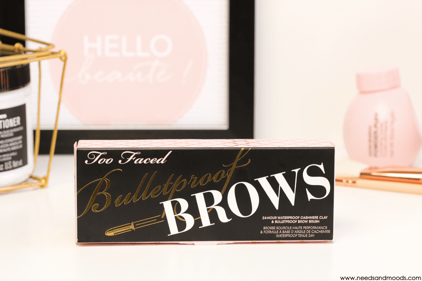 bulletproof brows too faced packaging