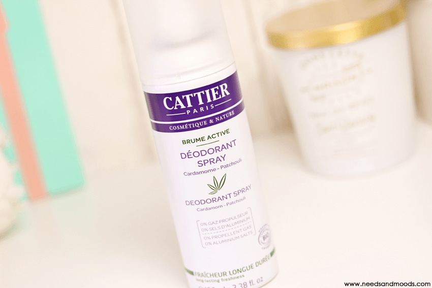 cattier deodorant brume active