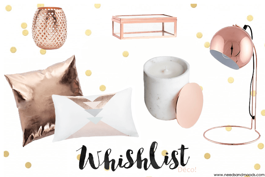 Le rose gold en d co ou en beaut c 39 est tendance for Lampe de bureau rose