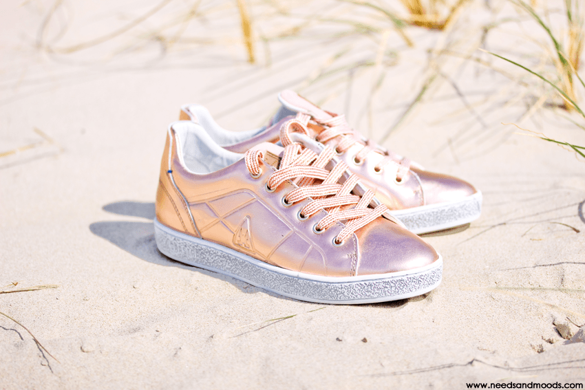 chaussures rose gold
