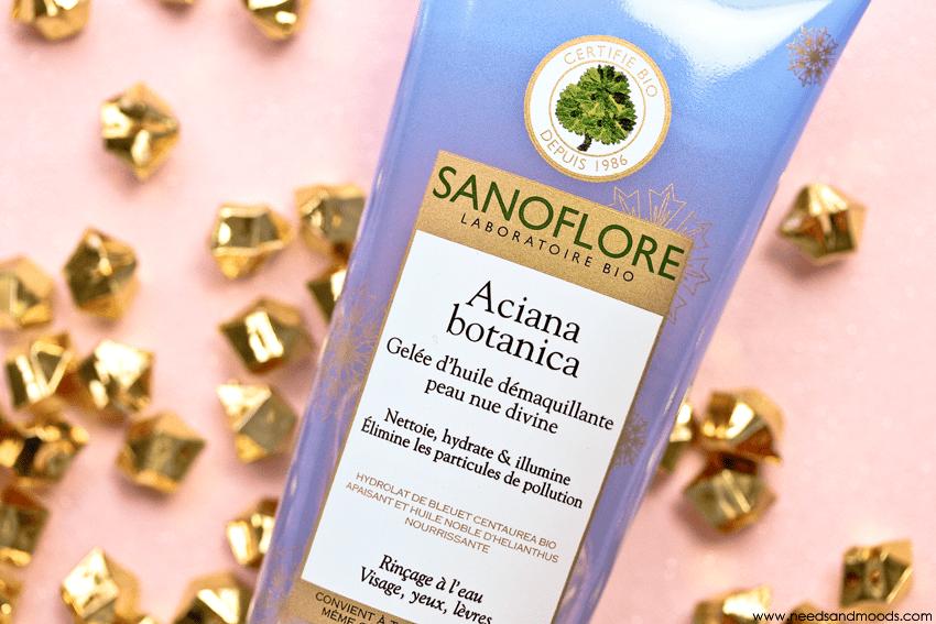 sanoflore gelee huile demaquillante aciana botanica