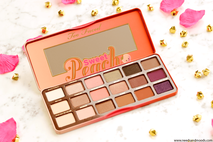sweet peach too faced palette