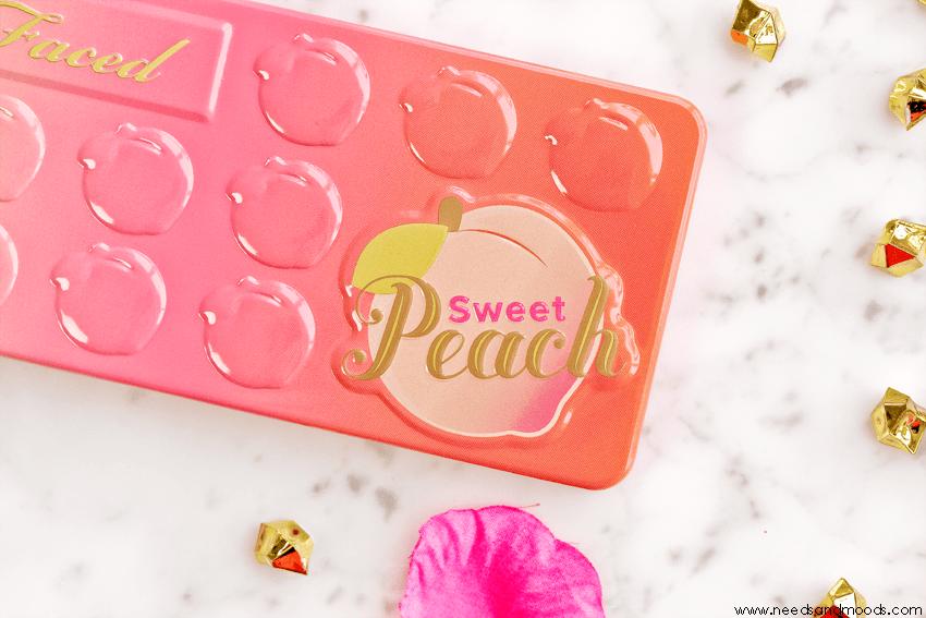 too faced palette sweet peach