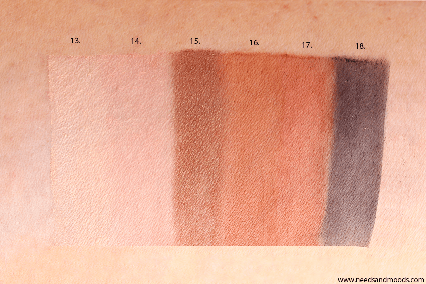too faced swatch palette dweet peach