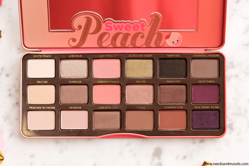 too faced sweet peach fards