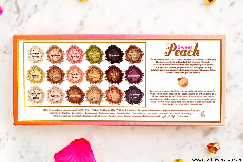 too faced sweet peach nom fards