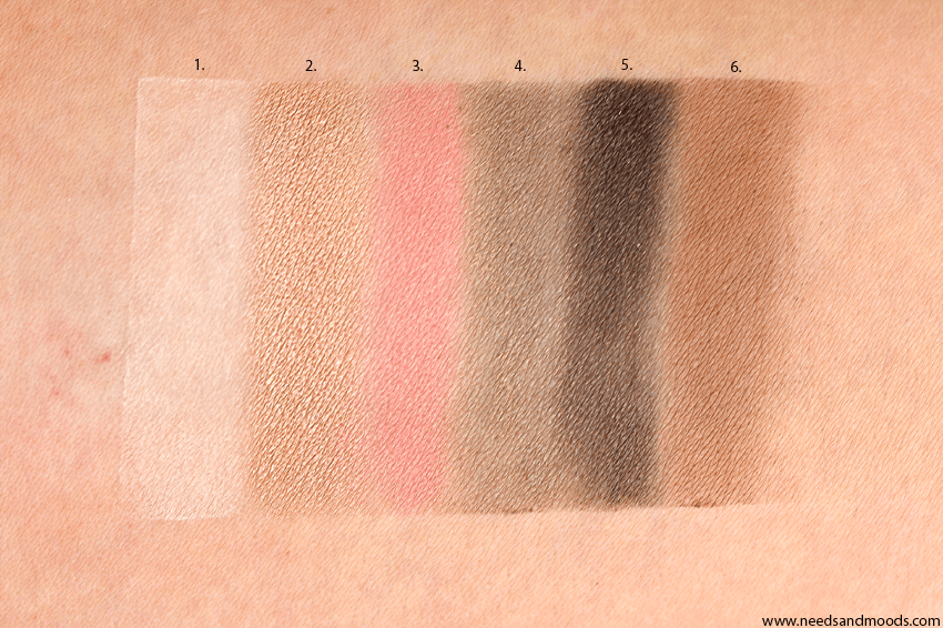 too faced sweet peach swatch