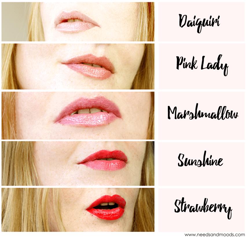 mavala lip gloss swatch vip collection