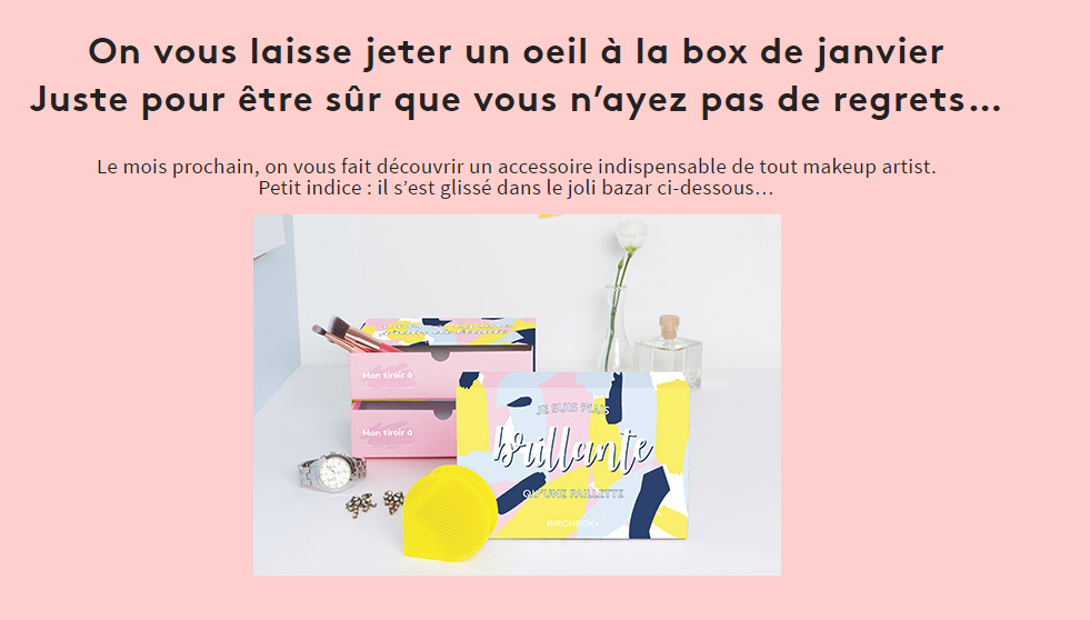 birchbox janvier 2017 spoiler