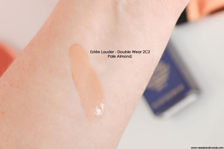 double wear pale almond swatch