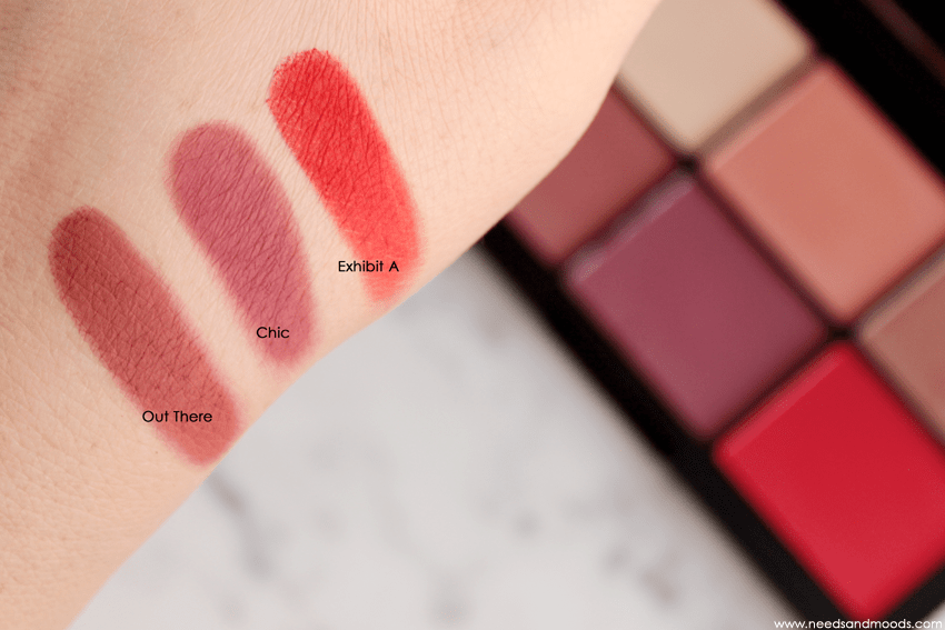 unfiltered I swatches