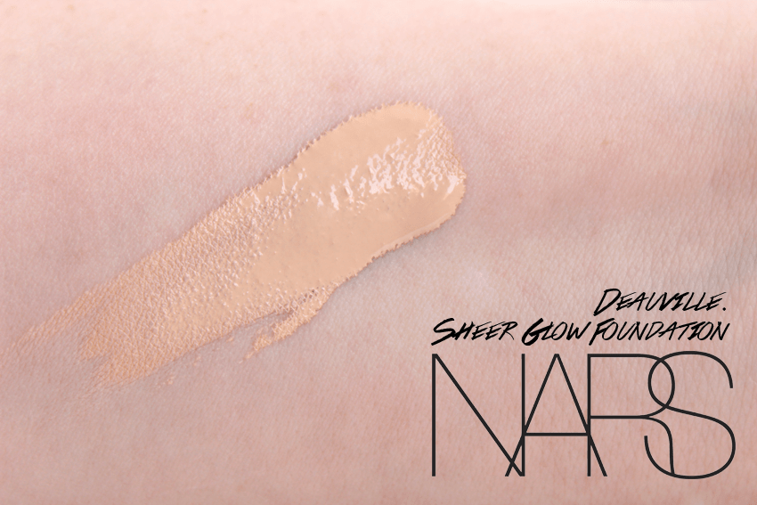 nars sheer glow foundation deauville swatch