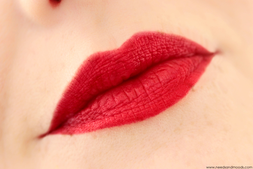 M.A.C Ruby Woo Swatch