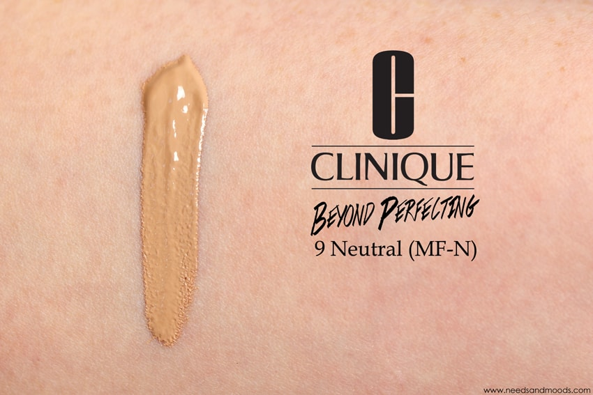 clinique beyond perfecting neutral swatch