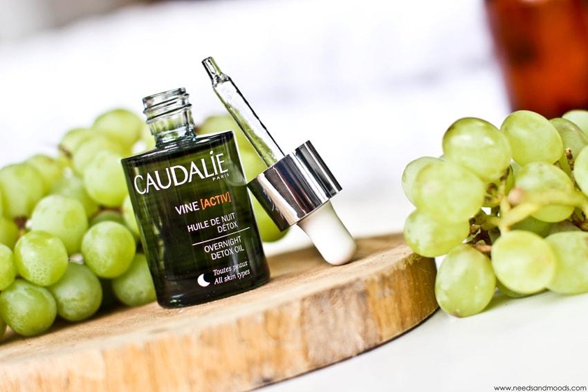 huile nuit detox caudalie vine activ