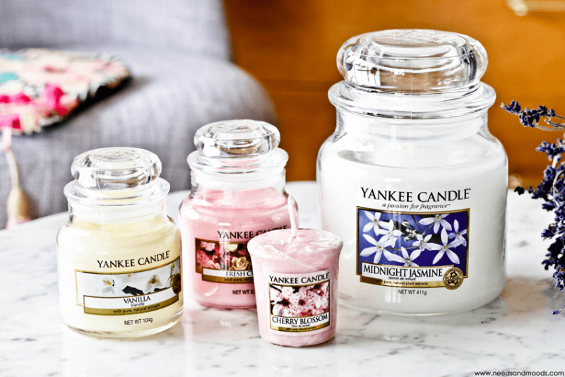 concours yankee candle cherry blossom vanilla fresh cut roses midnight jasmine. Black Bedroom Furniture Sets. Home Design Ideas