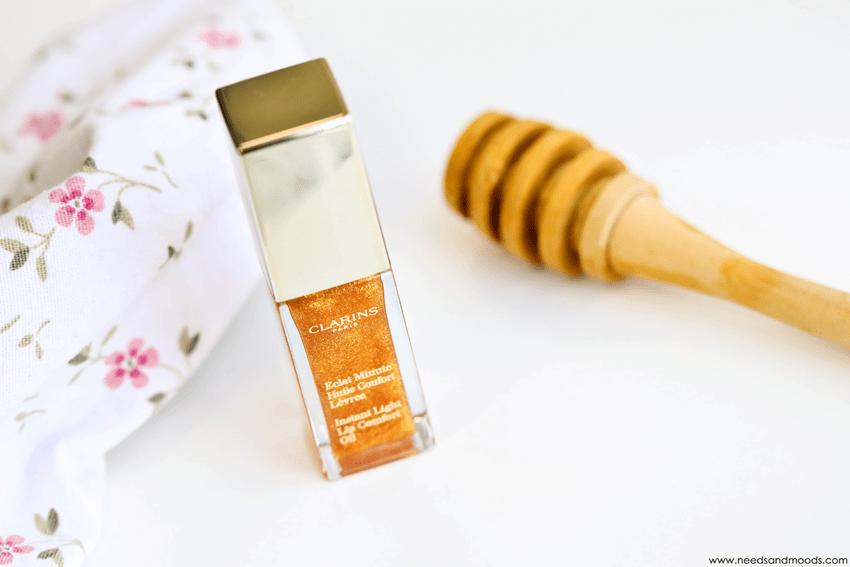 clarins eclat minute huile confort levres honey glam